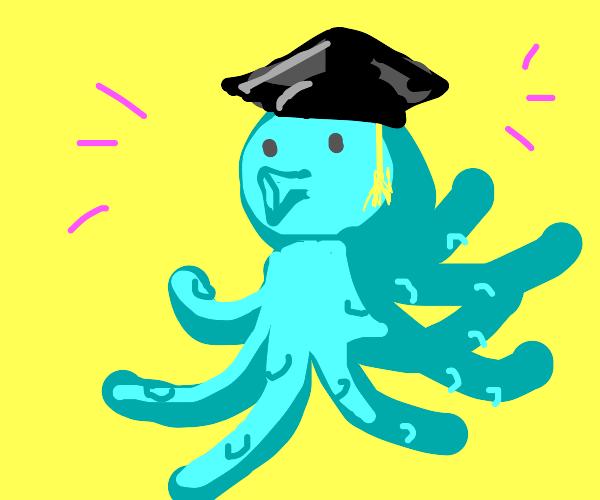 a octopus graduated! congrats!