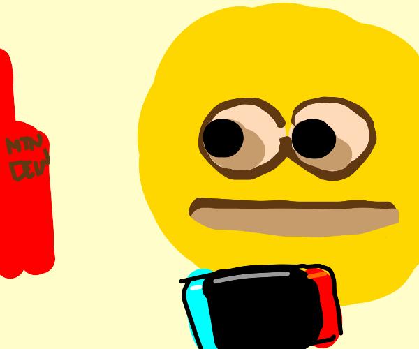 gamer desperate for mtn. dew red