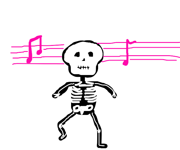 Spooky scary skeleton shivers down your spine