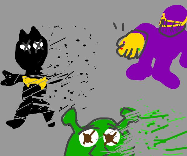 Batman & Shrek die in Endgame (not clickbait)