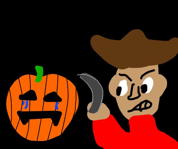 Halloween pumpkin upsets pirate