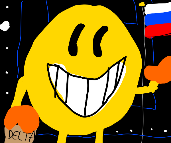 Pac man travels to Russia