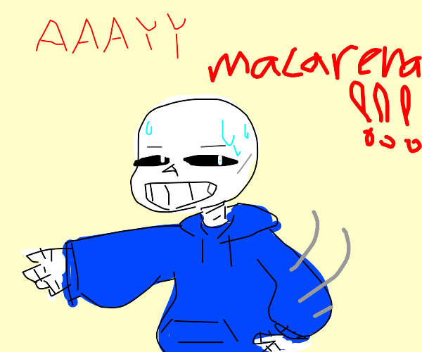 sans undertale does the macarena