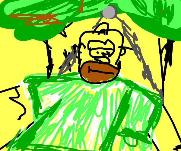 simpsons guy wearing green clothes