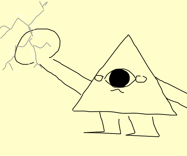 Illuminati triangle punches screen