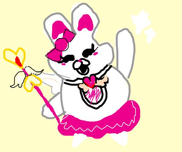 Pink Rabbit Magical Girl