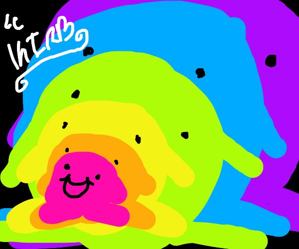 Pattern of rainbow Kirbys