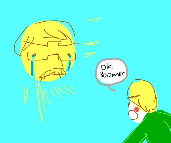 Crying boomer that's also the sun