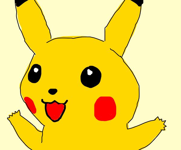 Pikachu is very happy