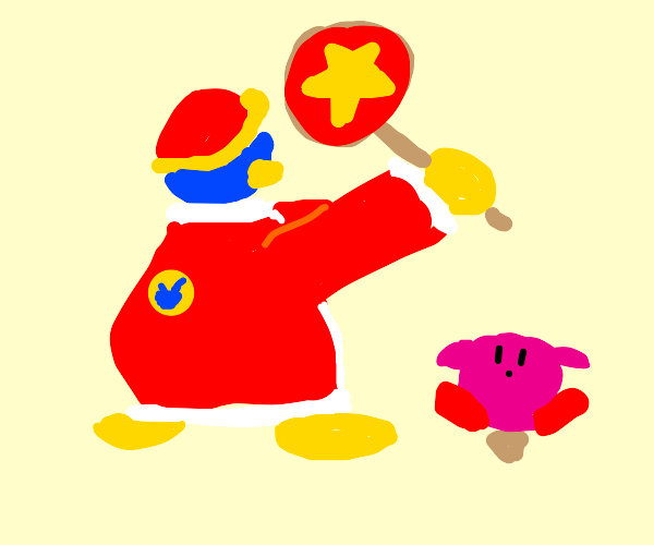 Kicking kirby to dat curb