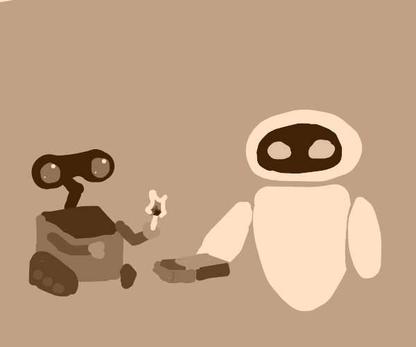 Wall-e and Eve play with matches