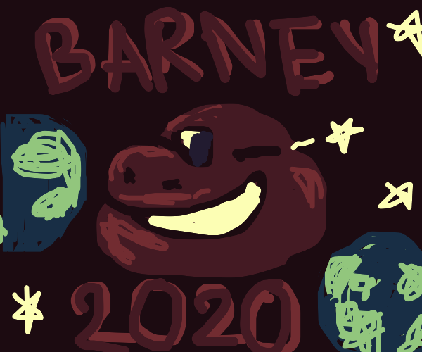 Barney wishes to lay claim to the planet