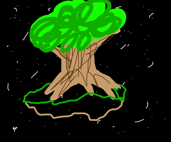 Tree in space