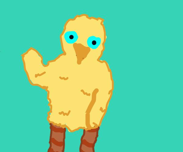 Big bird waving at u
