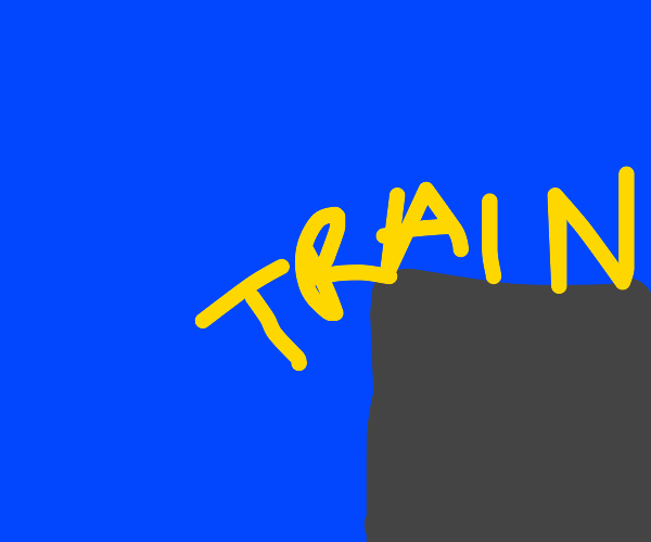 Train falls off cliff lol