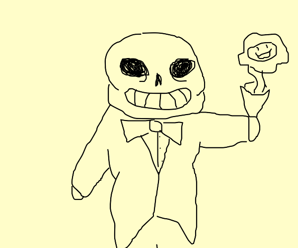 Sans ready for a date