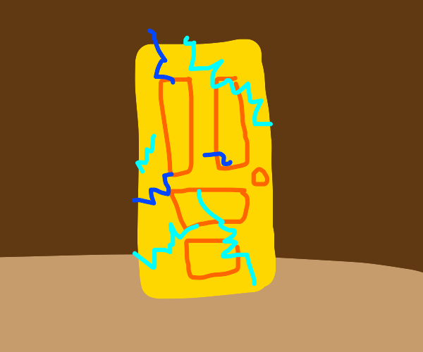 An electrically charged golden door