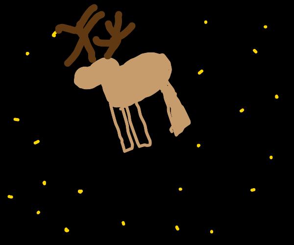moon repleced by deer