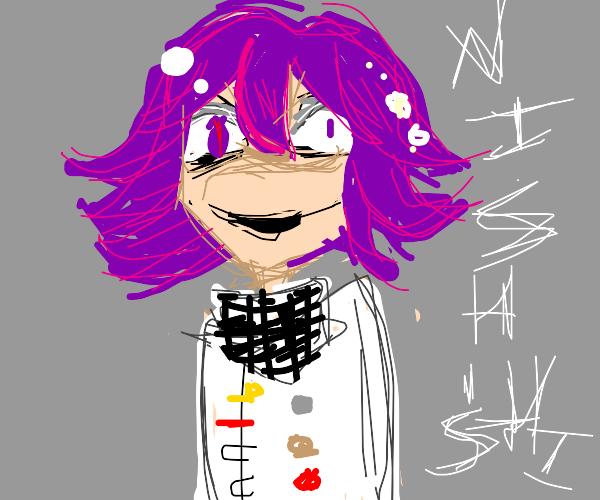 kokichi is looking pretty deranged
