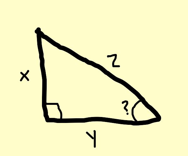 Angle question mark (?)