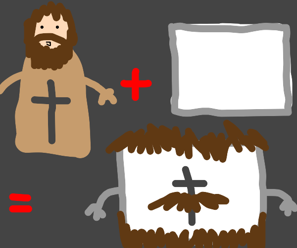 Jesus + whiteboard = Jesus the Whiteboard