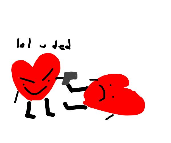 Heart killing another heart