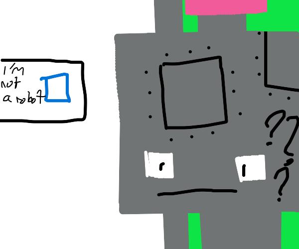 Robot can't pass captcha