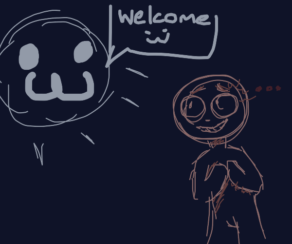 :3 face welcomes scared man