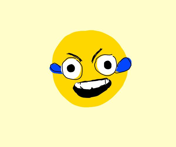 Happy crying face emoji