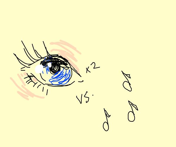 Blue eyes aganist music