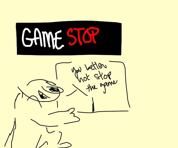 man runs to gamestop happy