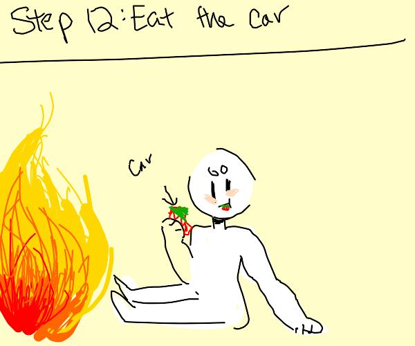 Step 11: crash your car into a bridge