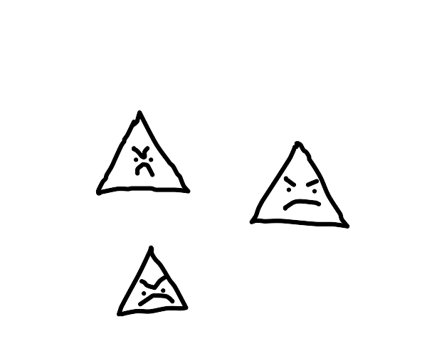 angry triangles