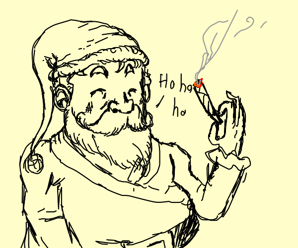 santa just chilling