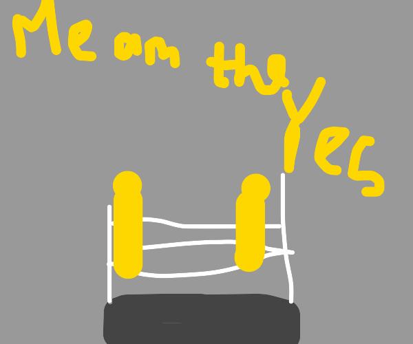 computer vs alien in a WWE match