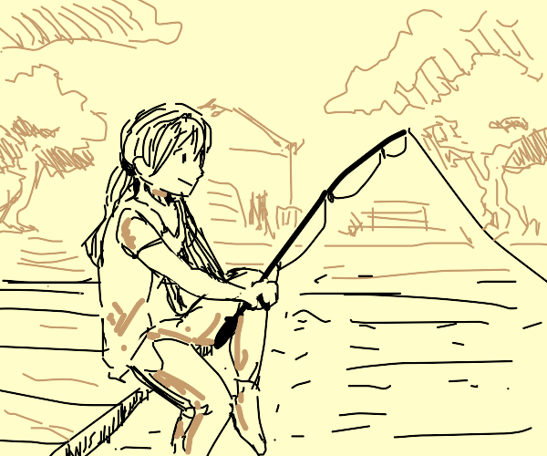 Fishing for anime girls.
