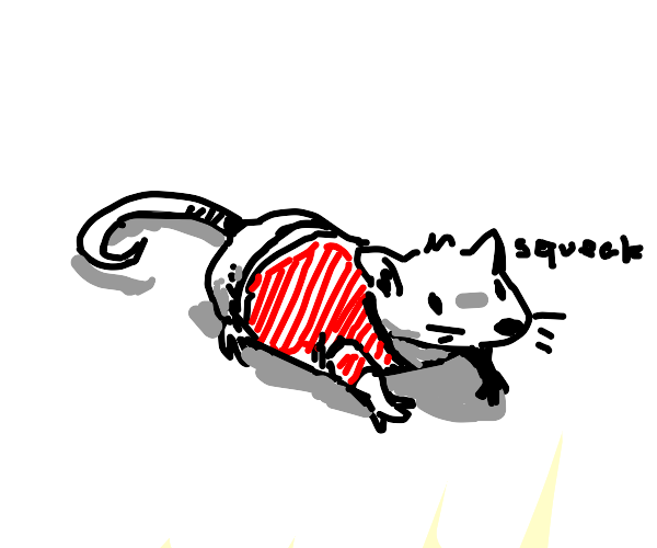 Mouse with red shirt