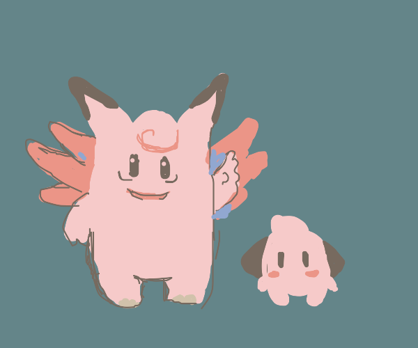 Clefable w/ small clefable