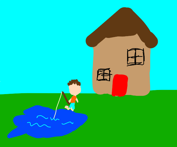 fishing in front of your house