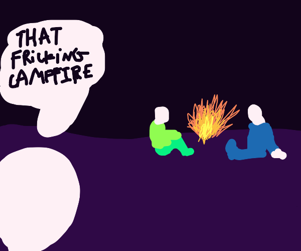 fricking campfire outside