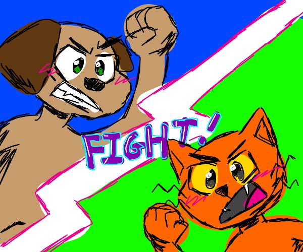 to anthropomorphic animals fight