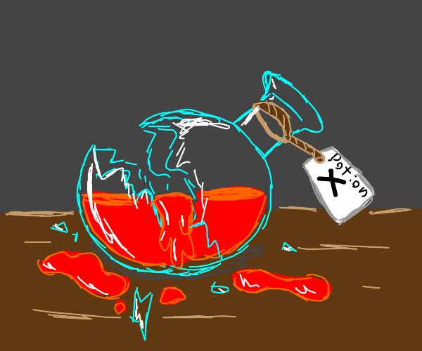 broken potion bottle X