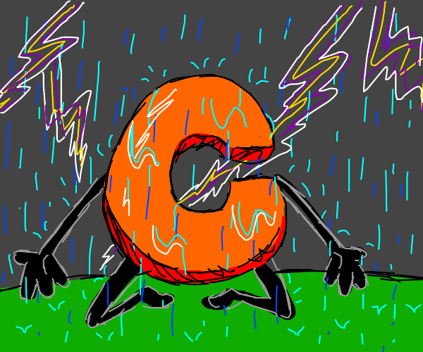 C in a rainstorm