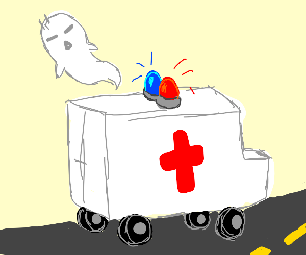 ghost flying out of ambulance
