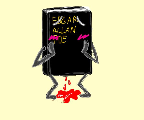 Edgar Allan Poe book got a period blood.