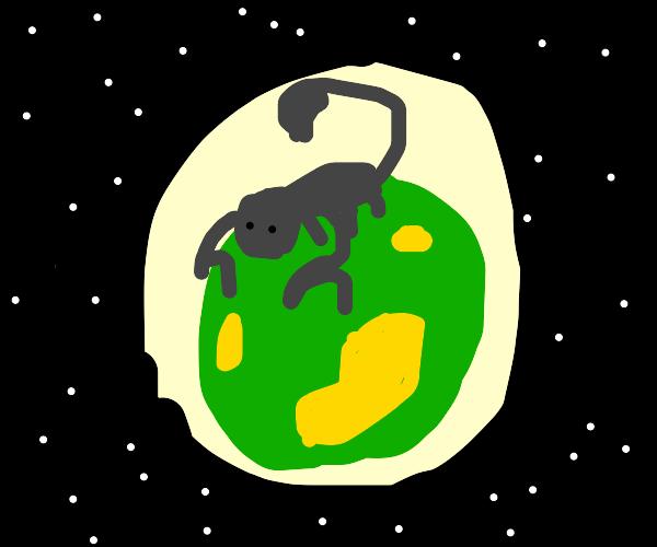 Scorpion on an Alien Planet