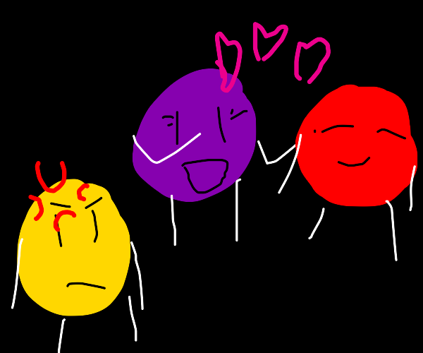 Yellow doesn't like purple dating red.