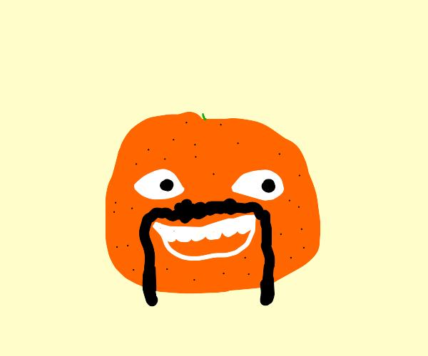 Annoying Orange with facial hair