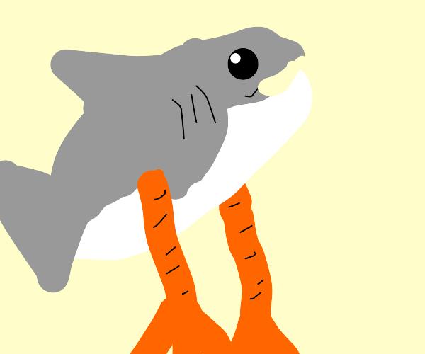 Shark with bird legs