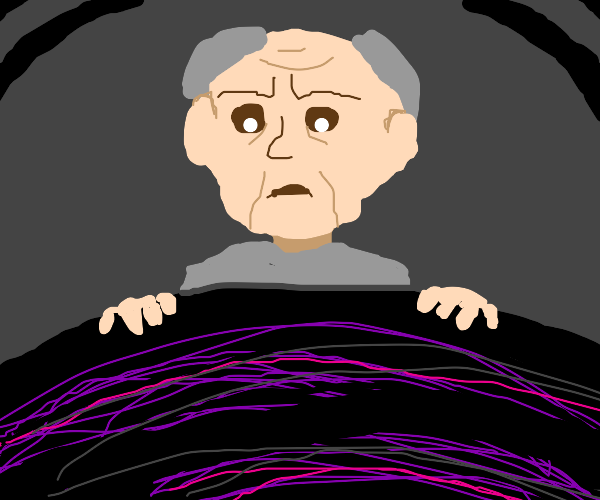 old, balding white man staring into the abyss